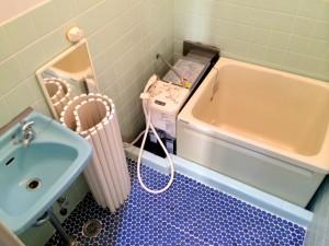 ハイツイシワタ3洗面台、お風呂