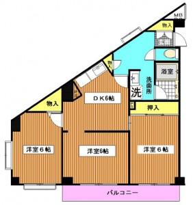 エクシード宮崎台205 間取図